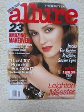 Allure Magazine January 2011 Leighton Meester Strips Down Past Her Headband