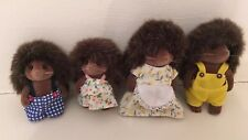 Sylvanian Families Hedgehog Family With Clothes