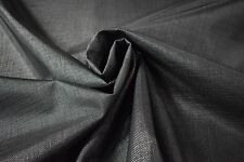 "25 Ft. Black Textilene 90 Screen 72""W Outdoor Solar PVC Coated Poly UV Fabric FR"