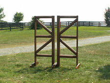 Horse Jumps Cut Rail Square Design Jumper Wing Standards Pair/6ft #253