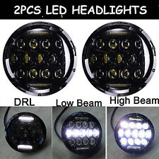 2X 7inch 75W LED Headlights H4 DRL Super Bright Beam Fit For JEEP JK TJ Wrangler