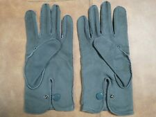 Gloves leather gray suede driving style fashion gloves size 10, or large
