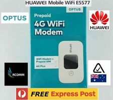 2020 OPTUS 4G LTE Huawei E5577 Portable WiFi  Modem SEALED AU STOCK + Data Sim