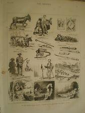 España bocetos en un distrito de minería de plomo andaluz 1876 impresión Ref V