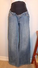 WOMEN'S LOVELY MATERNITY BLUE JEANS by MAMA BLACK MATERNITY SIZE 29