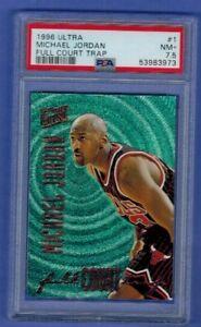 1996 Fleer Ultra Full Court Trap #1 Michael Jordan Chicago Bulls HOF PSA 7.5 NM+
