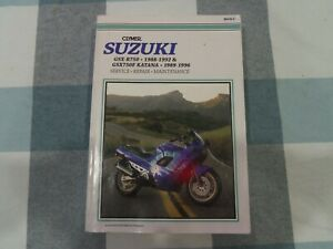 SUZUKI GSX-R750  1988/1992 GSX750F KATANA 1989/1996 MOTORCYCLE WORKSHOP MANUAL