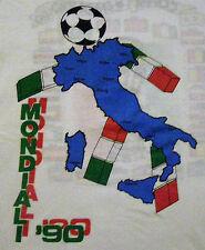 ITALIA COPPA MONDIALI 1990 RARE vintage football t-shirt size M