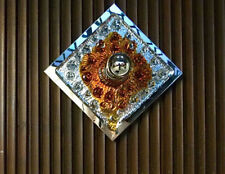 MAZZEGA Sconce MURANO Glass & Chrome WALL LAMP Wandlampe Leuchter 1960er 1960s