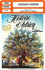 FICHE CINEMA FILM FRANCE HISTOIRE D'ADRIEN Réalisateur Jean-Pierre Denis