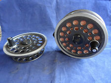 A VERY GOOD VINTAGE SHAKSPEARE 1535 SIZE BEAULITE SALMON FLY REEL + S.S. +1 LINE