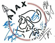 AJAX 2019 Champions League Squad Multi SIGNED Autograph 10x8 Photo 2 AFTAL COA