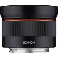 Rokinon AF 24mm f/2.8 FE Lens for Sony Full Frame autofocus barely use Lens hood