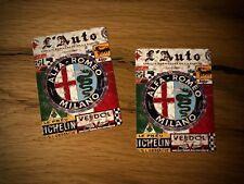 2x Alfa Romeo Vintage Aufkleber Spider Giulia Mille Miglia Rally Oldtimer #188