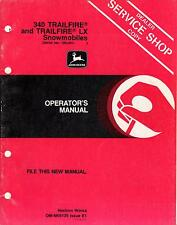 JOHN DEERE 340 TRAILFIRE SNOWMOBILE OPERATORS MANUAL OM-M69139 ISSUE E1 (388)