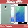Meizu M5s Cover Case Tpu + Vetro Temperato Full Spessa Morbida Custodia Silicone