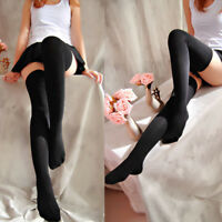 Women Thigh High Over Knee Socks Long Cotton Anti Skid Stockings Girls Acces