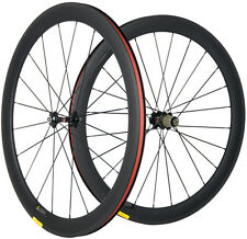 50mm Clincher Carbon Cycling Wheels Road Bike Carbon Bicycle Wheelset 700C Wheel
