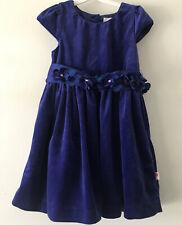 Girls 5-6 Years ROSENBAUM blue Velvet Party Dress In Grate Condition