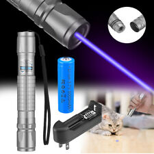 900miles Blue Purple 405nm Laser Pointer Pen Visible Beam Battery Charger
