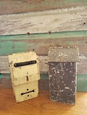 Vintage Pair Metal on the House Mailboxes