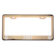 Laser Engraved Fiat Rose Gold Chrome License Plate Frame T304 Stainless Steel