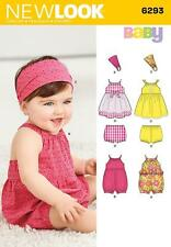 NEW LOOK SEWING PATTERN Babies' Romper, Dress, Panties and Headband NB - L 6293