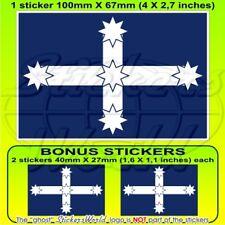 "Australia EUREKA STOCKADE Flag 4"" (100mm) Vinyl Bumper Sticker Decal x1+2 BONUS"