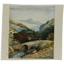 J Morgan Traditional English Bridge Landscape Bristol c1810 Watercolour Painting