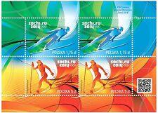 NEW skijumping cross country SOCHI 2014  POLISH Olympic stamps block unused MNH