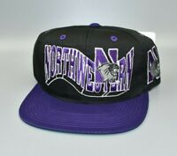 Northwestern Wildcats Vintage 90's G-Cap The Wave Snapback Cap Hat - NWT