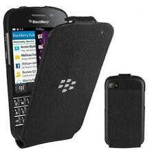 Genuine BlackBerry Leather Flip Shell Case Cover for BlackBerry Q10 - Black