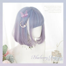 Harajuku Kawaii Lolita Wig Cosplay Costume Short BOBO Blue Purple Gradient Hair