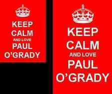 Keep Calm And Love Paul O'Grady 2 Sided Keyring And Fridge Magnet Set