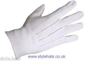 SALE White Dress Gloves Parade Masonic Services Pure Cotton Ceremonial Gloves