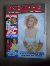 GENTE n°51 1986 Maria Giovanna Elmi Milva GiannI Versace Zuzzurro [LOT1Q]