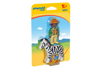 9257 playmobil 1 2 3 * Ranger mit Zebra * für Kinder ab 1½ Jahre / 18 Monate NEU