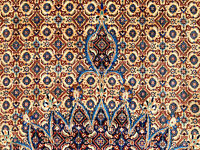 10x14 HAND KNOTTED ANTIQUE PERSIAN RUG WOOL oriental carpet geometric 10x13 9x13
