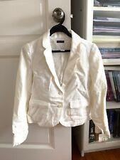 Zara Girls Kids White Blazer Jacket Pocket Button 13 - 14 Years New