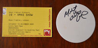 IQ Xmas Show Ticket Stub, Mean Fiddler, London 2005 + Martin Orford signed beer