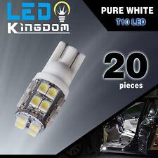 20x T10 20-SMD LED White Super Bright Car Interior Lights Bulb 194 158 2825 W5W
