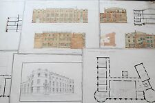 19th century Architect Drawings - England Sutherland Institute Longton