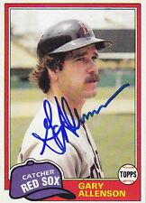 1981 Topps #128 Signed Gary Allenson  Red Sox Autograph Catcher JSA