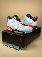 2015 Air Jordan 6 Retro low, Infrared, white 304401123 Size 8.5 B-Grade