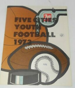 VINTAGE 1973 5 Cities youth Football Program from Arroyo Grande CA - 7 Up Advert