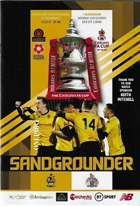 21/22  SOUTHPORT v  ALTRINCHAM  (FA Cup 4th Qualifying  Round Replay )