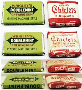 Vintage Wrigley's Doublemint Vending Machine Gum & Chiclets Gum Sealed 2 Pieces