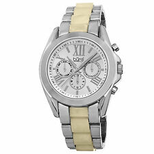 New Women's Burgi BUR094SS Swiss Quartz Multifunction Two-tone Bracelet Watch