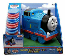 Thomas & Friends Train Engine Coin Bank Light & Sound Music Teaches Counting NEW