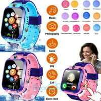 Digital Smart Watch Safe GPS Tracker SOS Call Waterproof For Android Child Kids